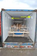 RC DTH Drilling tools en route Mongolia in a 40' container, Mongolyn Alt (MAK) Corp.<br />Desiccant product is used for humidity control.