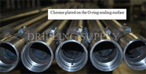 Tube with inner ends are heat treated and even chrome plated on the O-ring sealing surface
